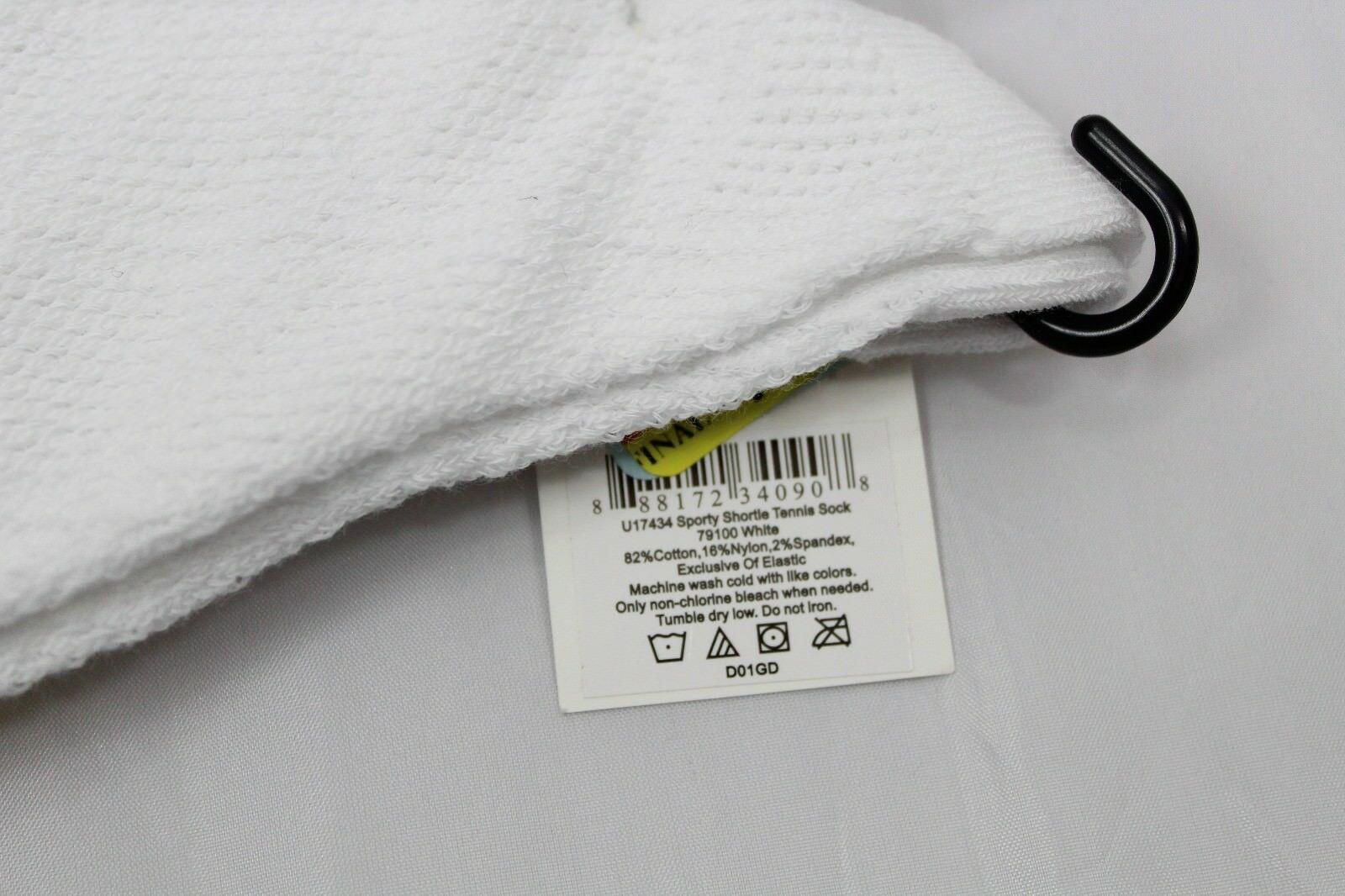 HUE women's Sporty Shorty Tennis Socks White OS