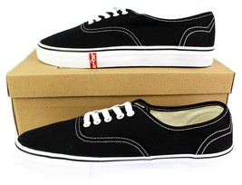 NEW LEVI'S MEN'S CLASSIC PREMIUM CASUAL SNEAKERS SHOES RYLEE 514293-01A BLACK image 2