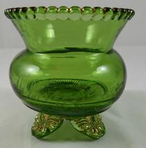 "Antique ""FLORENCE 1907"" GREEN /GOLD PATTERN Glass Souvenir G22 - $9.89"
