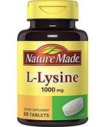 Pastillas Suplemento Dietario L Lisina 1000 Mg Llagas Herpes Sistema Inmune NEW - $13.11