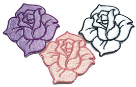 Rose Flower Applique Badge Embroidered Sew Iron On Floral Hat Patch Dres... - $2.88+