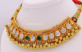 Vintage antique 22K Yellow Gold Necklace Set Tussi Tribal India Handmade... - $6,582.11
