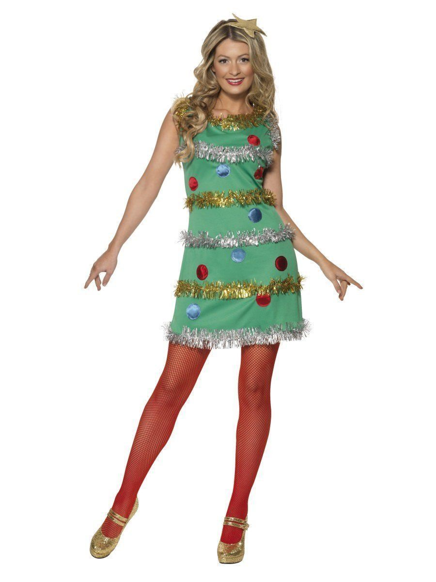Primary image for Smiffys Christmas Tree Costume Adult Womens X-Mas Holiday Costume 36992