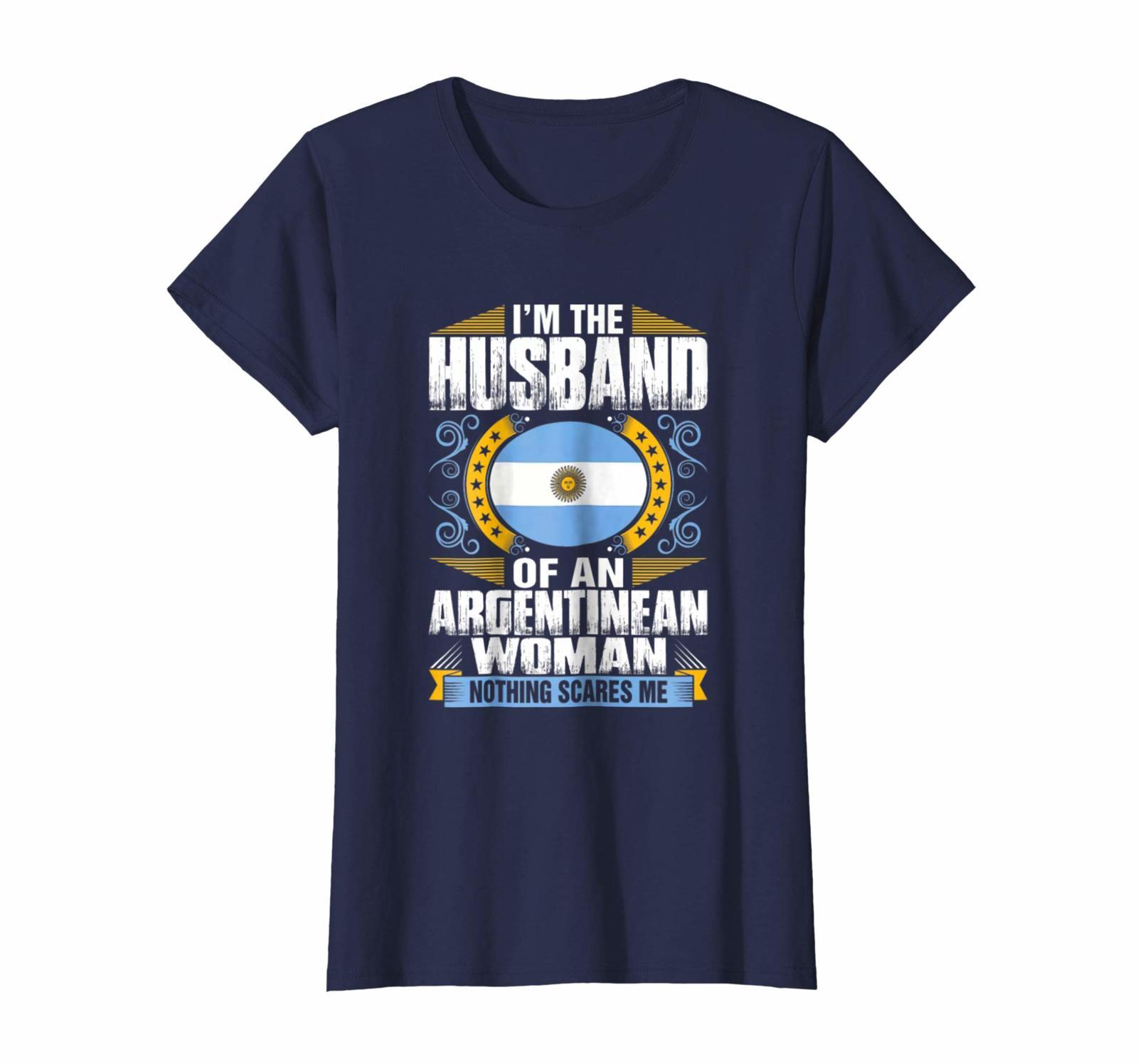 New Shirts - I'm The Husband Argentina Women Flag Men Women Gift T Shirt Wowen
