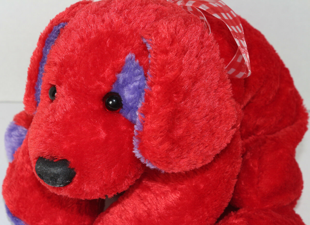 Mary Meyer FLIP FLOPS RED AND PURPLE Floppy DOG STUFFED PLUSH Animal SOFT TOY image 2