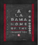 "Alabama Crimson Tide 13x16 College ""Chalkboard Look Eye Chart"" Framed Print - $39.95"
