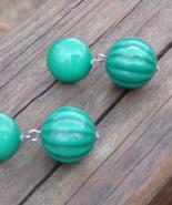 Vintage Retro Melon Ball Dangle Earrings, Pierced - $15.00