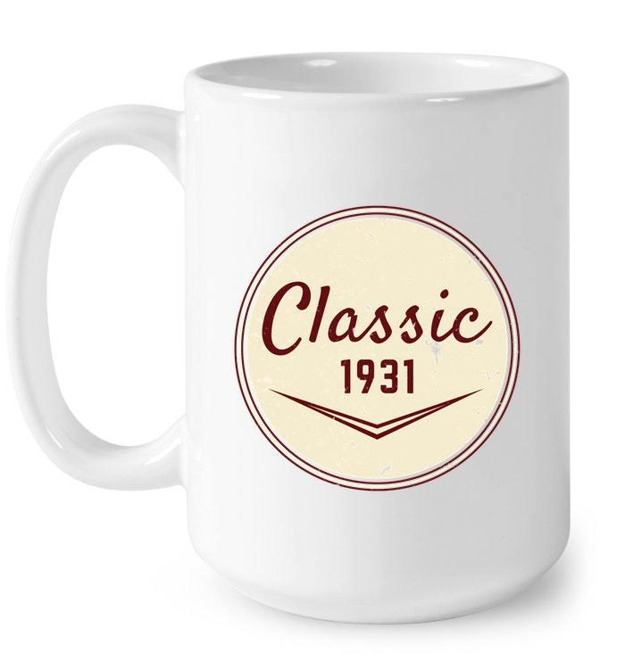 Vintage Classic 1931 87th Birthday Gift Gift Coffee Mug