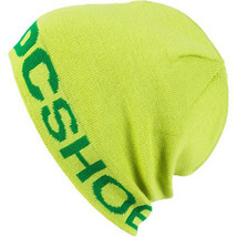 DC Shoes Co. USA Bromont Skull Beanie Lime Green Cap Hat NWT