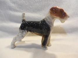 "Vintage Ucagco Japan Ceramic Terrier Dog Figurine 4 1/2"" - $9.95"