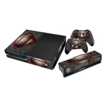 Xbox One Console Skin Superman Black/Red Decal +2x Controller Pad Stickers Cover - $12.41