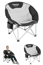 Heavy Duty Camping Chair Comfy Padded Seat Cooler Carry Bag Folding Stee... - $99.56