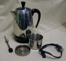 Farberware FCP280 Coffee Maker Percolator Pot 8-Cup stainless steel - $29.69
