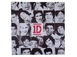 offiziell lizenziert One Direction schwarz weiß Gitter Leinwand Bild 40x40cm - $16.96
