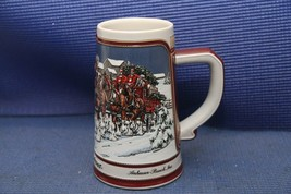 Vintage 1989 Budweiser Holiday Beer Stein Mug Clydesdale Collectors Series - $17.59