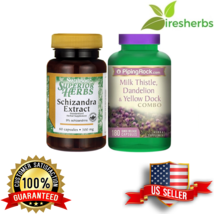 #1 RATED - SCHIZANDRA MILK THISTLE BOOST LIVER DETOX CLEANSE SUPPLEMENT ... - $37.61
