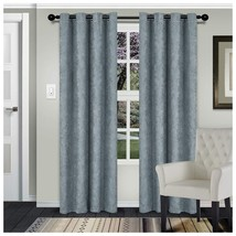 Superior Waverly Teal Embossed Wave Blackout Insulated Grommet Curtains 2 Panels - $41.53+
