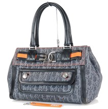 Authentic Christian Dior Flight Gray Denim Tote Hand Bag Purse #33172 - $349.00