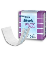 """Attends Booster Pads (Package of 24) Ultra Thin Absorbent 11.5"""" Long - $10.39"""