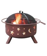 Garden Fire Pit Big Sky Stars & Moons Georgia Clay Patio Deck Party Rela... - $106.69