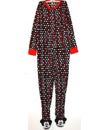 Disney Mickey Mouse NWT Women's Footed Fleece 1 Piece Pajamas - $46.79