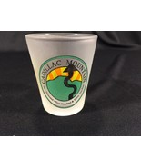 "Vintage Cadillac Mountain Frosted Collectible Shot Glass 2-1/4"" - $9.99"