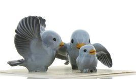Hagen Renaker Miniature Bluebird Family Ceramic Figurine Set of 3 image 9