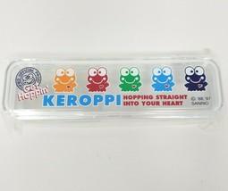 VINTAGE 1997 SANRIO SMILES KEROPPI STATIONARY CLEAR PLASTIC CASE GET HOP... - $32.73