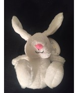 NWT Carter's Precious Firsts White Bunny Rabbit Pink Nose Stuffed Plush ... - $28.01