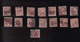GRANT 5C #223 US STAMP LOT OF 15 USED 1890  - $6.78
