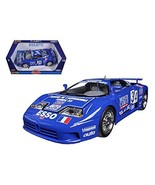 Maisto Bugatti EB 110 Blue #34 La Mini Mineria 1/18 Car Model by Bburago - $54.67