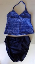 Christina women's two piece leopard print swimsuit Size 8-Blues - $13.10