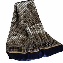 Luxury Silk Scarf Men Business Casual Royal Printing Vintage England Sca... - $27.69