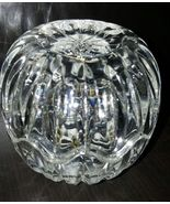 3 Inch Vintage Crystal Trinket Jewelry Box Jajecar Yugoslavia Round Shaped - $10.99