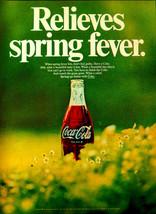 Vintage 1969 coke coca cola spring fever flowers advertisement print ad art - $8.90
