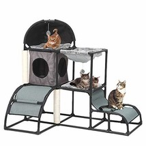 Yunhoo Luxury Multi-Level Cat Tree Cat Tower with cat Scratching Post,Ca... - $63.53