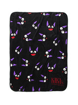 Studio Ghibli Kiki's Delivery Service Jiji Face Print Throw Blanket - $672,61 MXN