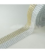 Wrap Ribbon Rhinestones Wedding Party Home Decor Event Party Crystal Mes... - $6.98