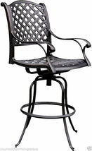 Nassau bar stools Set of 8 swivel outdoor patio furniture cast aluminum. image 5