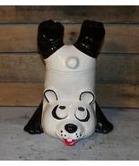 Vintage McCoy Upside Down Panda Cookie Jar #210 USA Black White Red LCC Era - $59.99