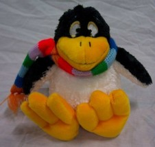 """Sea World CUTE SOFT PENGUIN WITH COLORFUL SCARF 8"""" Plush STUFFED ANIMAL Toy - $18.32"""