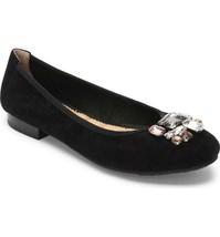 Me Too Women Ballet Flats Sapphire Size US 7.5M Black Suede Rhinestone C... - $34.74