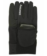 Saucony Ulti-Mitt Sz L Large Convertible Pocket Thermal Running Gloves S... - $13.71