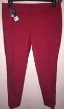 NWT WOMEN'S OXFORD GOLF DARK RED STRETCH GOLF CAPRI SZ 8 - $39.59