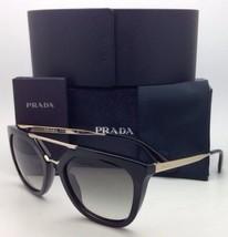 Nuovo Prada Occhiali da Sole Spr 13Q 1AB-0A7 54-20 Nero - Oro W/ Grigio ... - $325.93