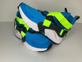 NEW Size 4.5Y Nike HUARACHE CITY Blue Neon CASUAL SHOES AJ6662-402 Youth... - $39.59