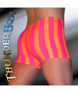 Thunderbox Nylon Spandex Mens Womens Orange & Fuchsia Stripe Gladiator S... - $25.00