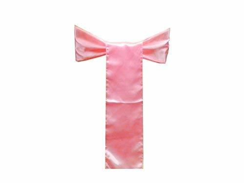 Elina Home Pack of 150 Satin Chair Cover Bow Sash Wedding Banquet Decoration (15