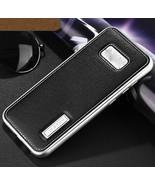 Aluminum Metal Bumper+Genuine Back Leather Case For Samsung S8 Plus Silv... - $39.99