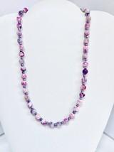 Pink/Purple Jasper Necklace - $25.00
